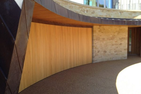 curved garage doors - Downley House
