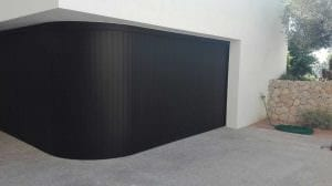 Cornerless Garage Doors - black