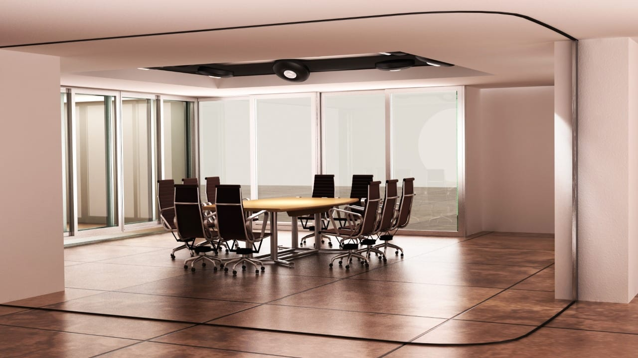 Conference Room Partition - Outside Door Open