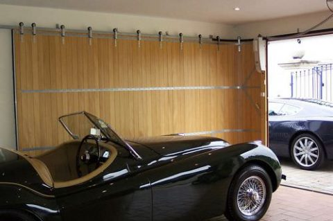 Side Sliding Garage Doors Save Overhead Space